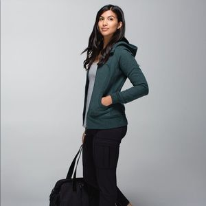 Lululemon Scuba II Hoodie Jacket 2 Forest Green